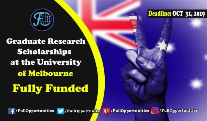 university of melbourne application for phd
