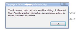 the application could not be opened