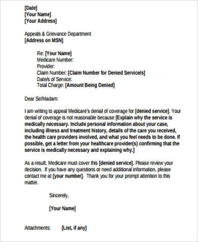 provider letter sample accomodation