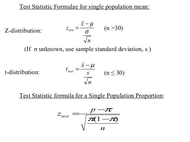 one sample t test unknown mean