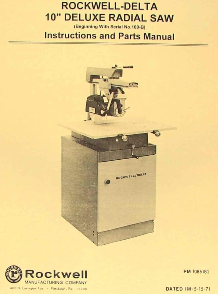 rockwell delta table saw manual