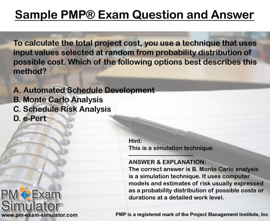 sample exam questions pmp project management professional pmp