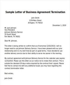 sample letter of mutual understanding