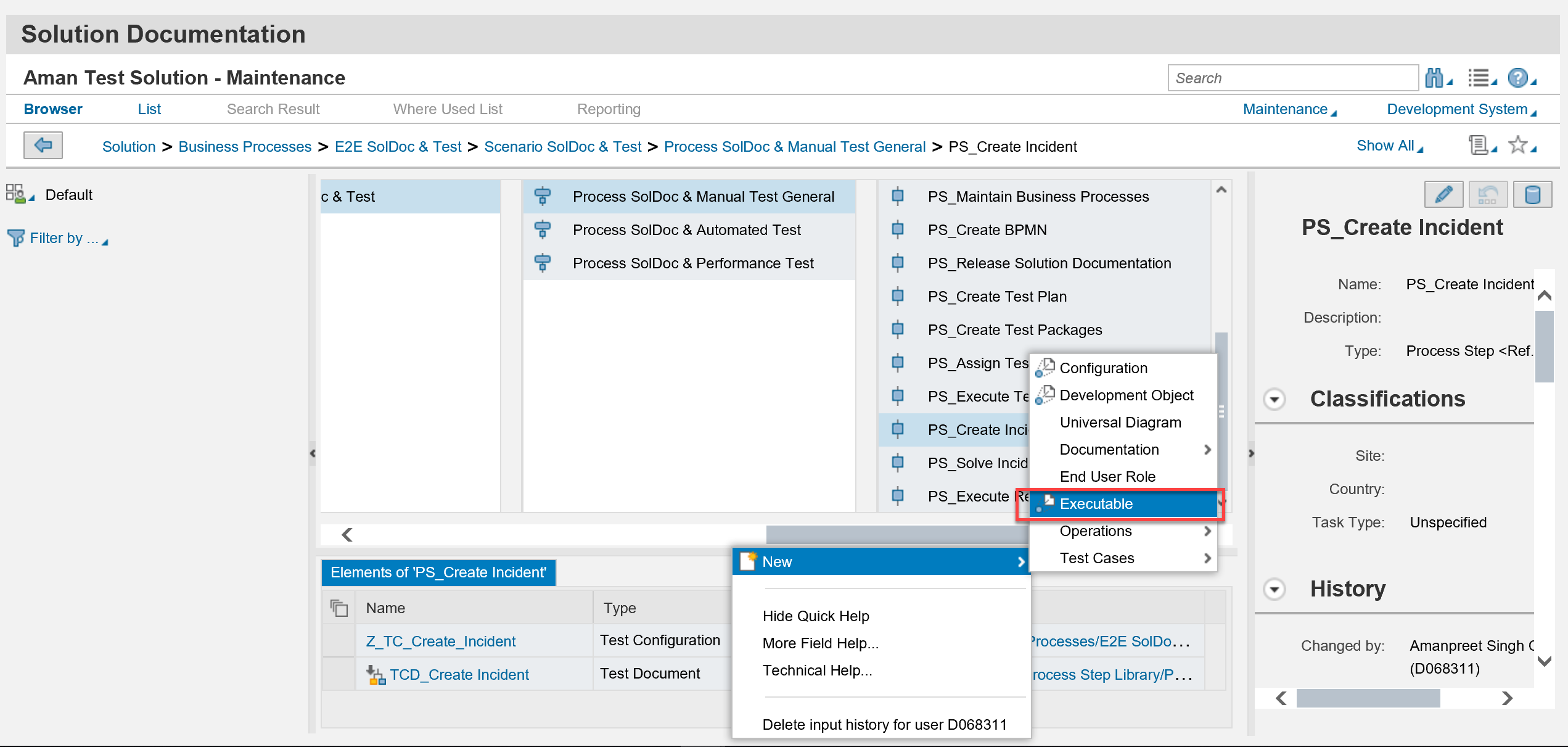 sap fiori application create incident image